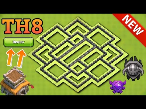 Clash of clans | NEW Town Hall 8 (Th8) Trophy Base With Replays | Best Th8 Trophy Base 2017