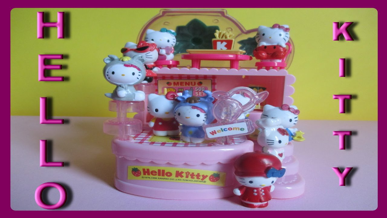 Hello Kitty Toy Food : Hello kitty strawberry fast food shop unboxing toy play