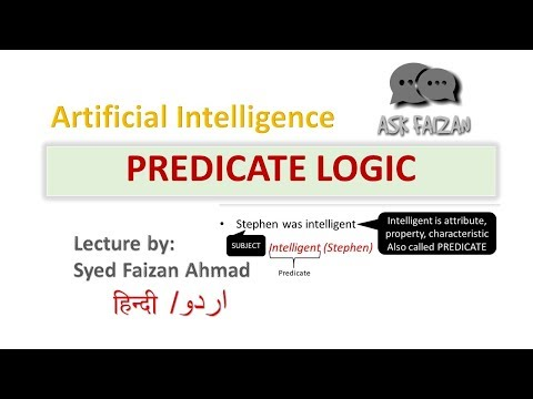 Predicate logic in AI | First order logic in Artificial Intelligence | fol examples | Hindi |