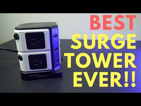 Bestek Tower Review | BEST USB Surge Protector EVER!!!