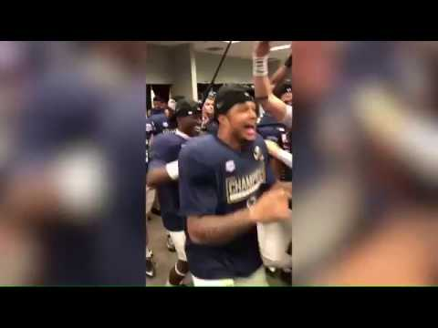 Marcus Allen Fiesta Bowl Post-Game Locker Room Celebration Video || Penn State Football 2017