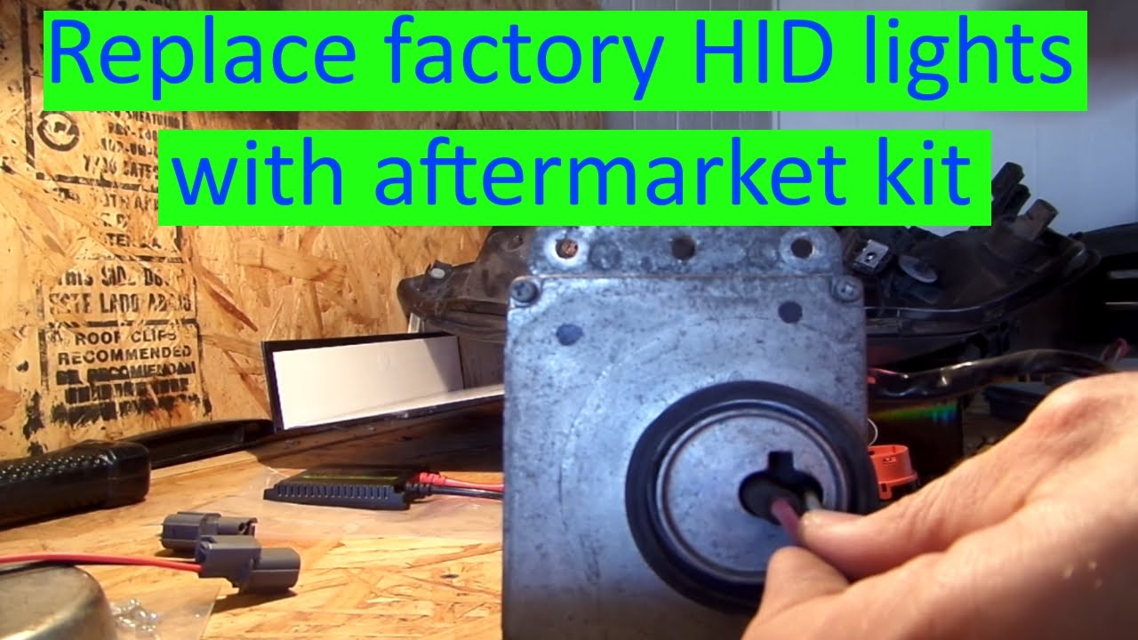 2003 Acura Cl Or Tl Replace Factory Hid Lights With Aftermarket 2006 Headlamp Wiring Harness Kit Youtube