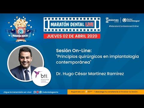 "MARATÓN DENTAL LIVE | Sesión On-Line: ""Principios Quirúrgicos En Implantología Contemporánea"""