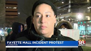 Fayette Mall Incident Protest