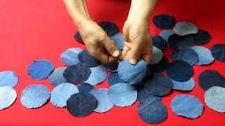 "DIY원 올풀림 패치웍 토트백/make a ""luxury bag""/circle patchwork washing tote bag"