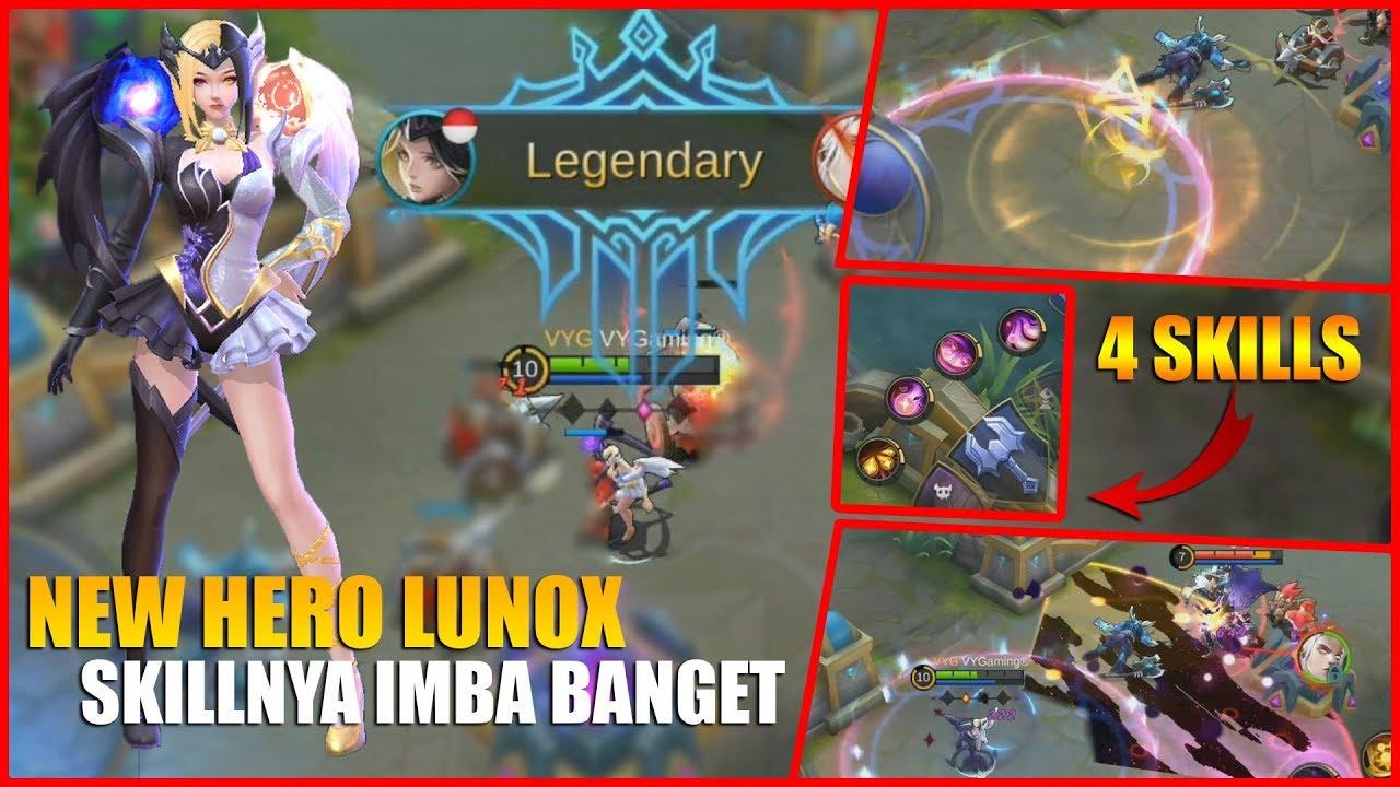 NEW HERO LUNOX SUMPAH INI HERO SKILL NYA IMBA BANGET ADA 4 SKILL LAGI MOBILE LEGENDS