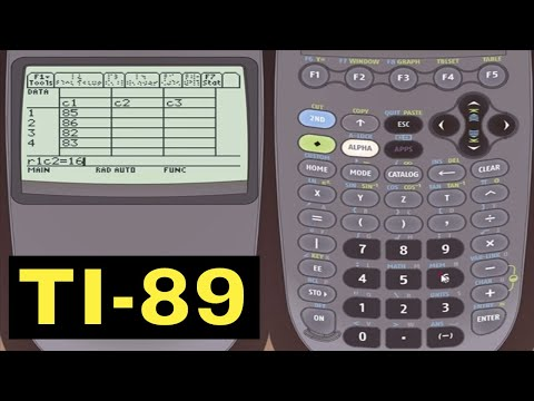 TI-89 Calculator - 24 - Analyzing One And Two Variable Statistical Data