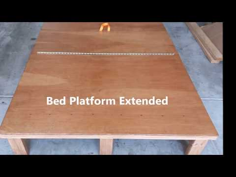 Full Size Folding Bed For Vans and Minivans | Bed Converts To Couch