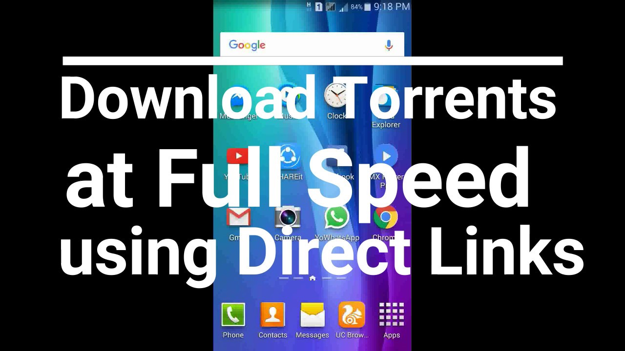 torrent to direct download more than 1gb