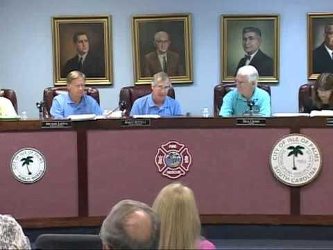 7/26/11, City Council, Isle of Palms, South Carolina