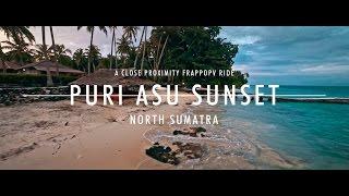 FPV low proximity - Puri Asu Resort at Sunset, North Sumatra