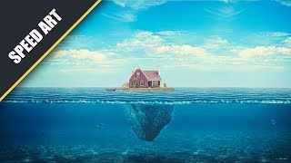 """House On the Ocean"" Speed Art #PhotoshopCC (By: Kyan Artz)"