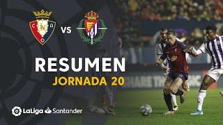 Resumen de CA Osasuna vs Real Valladolid (0-0)
