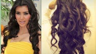★ KIM KARDASHIAN HAIR TUTORIAL | HOW TO CURL LONG HAIR | BIG, SEXY, SOFT CURLS HAIRSTYLES \CURLY