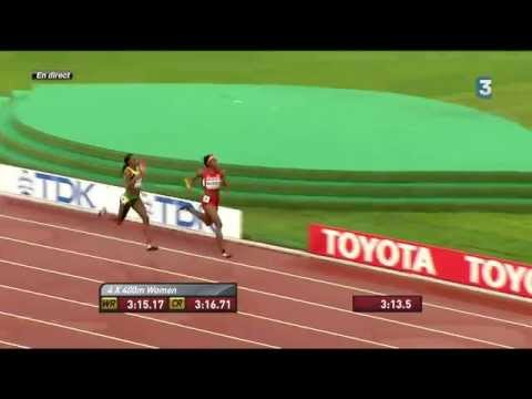 Jamaica beats USA and wins Women's 4x400m Relay Final - World Athletics Championships BEIJING 2015