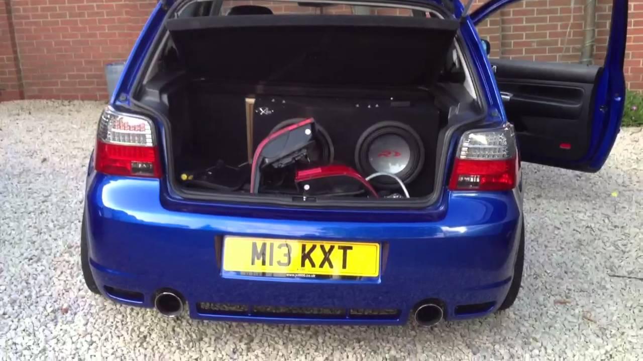 Led M3 FK Depo style LED rear tail lights on a Golf Mk4 R32
