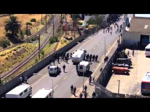Martial law in South Africa Today 27 Feb 2014 in Cape Town - As the elections draw closer...