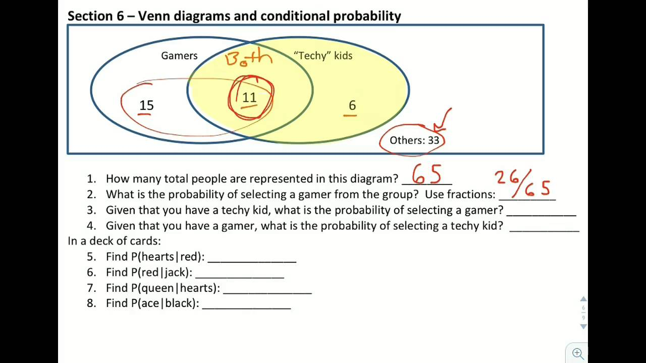 alg6 6 venn diagrams and conditional probability [ 1280 x 720 Pixel ]
