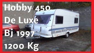Wohnwagen Hobby De Luxe 450 mit Vorzelt Bj 1997 Außen und ihnen Schwäche Vorteile Erster  Eindruck