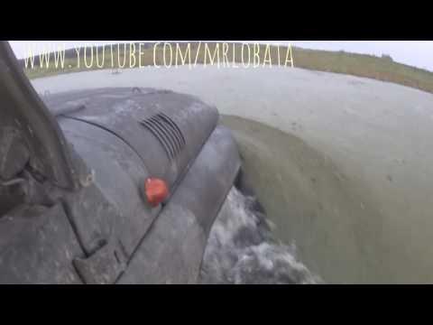 4Х4 ►УАЗ Речку в брод)) Чуть не утонули!!!