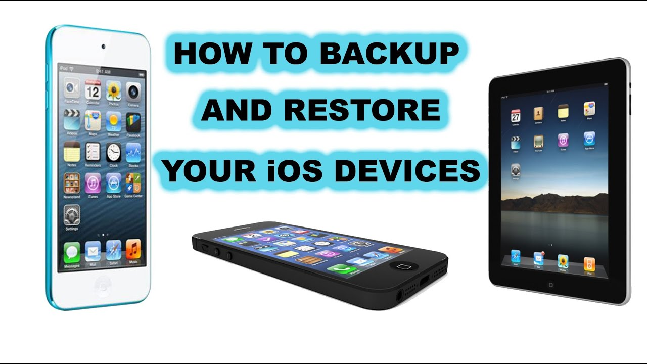 how to backup and restore iphone ipad ipod touch from backup youtube rh youtube com iPod Touch 1st Generation iPod Touch Won't Turn On