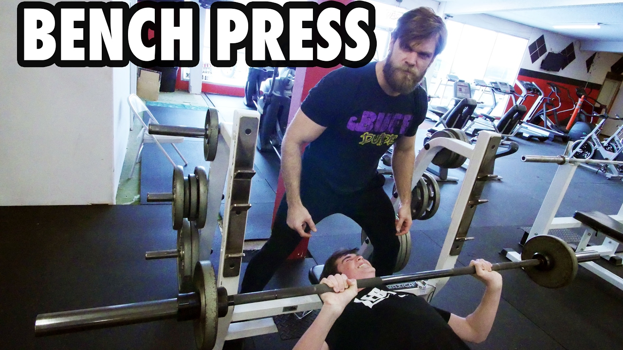 Teen Beginners Bodybuilding Training Bench Press Youtube