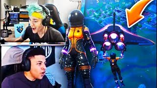 Ninja And Myth Reacts To New Dark Vanguard Skin And Glider | Fortnite Funny and Best Moments Ep.8