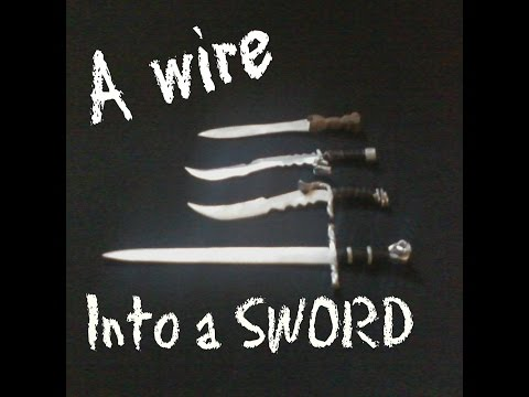 Wire to Sword DIY Custom Unique Cheap Letter Openers