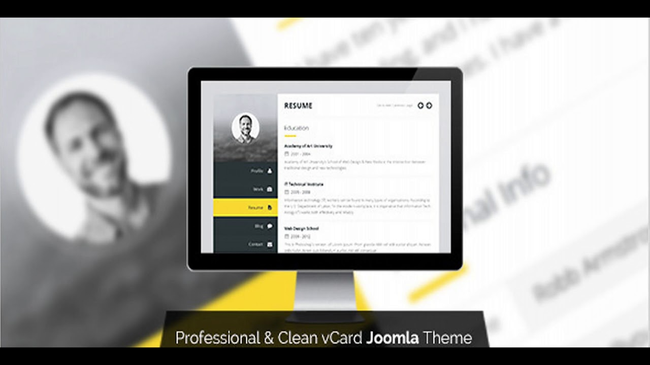 Premium layers joomla vcard resume template themeforest website premium layers joomla vcard resume template themeforest website templates and themes yelopaper Choice Image