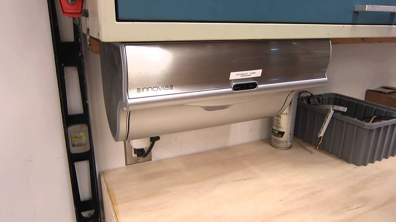 Innovia WBS Automatic Paper Towel Dispenser Review YouTube - Kitchen paper towel dispenser