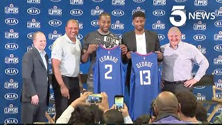 Clippers Welcome Kawhi Leonard and Paul George to Los Angeles
