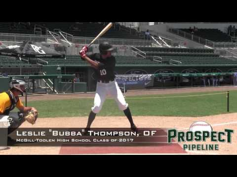 "Leslie ""Bubba"" Thompson Prospect Video, OF, McGill Toolen Catholic High School Class of 2017"