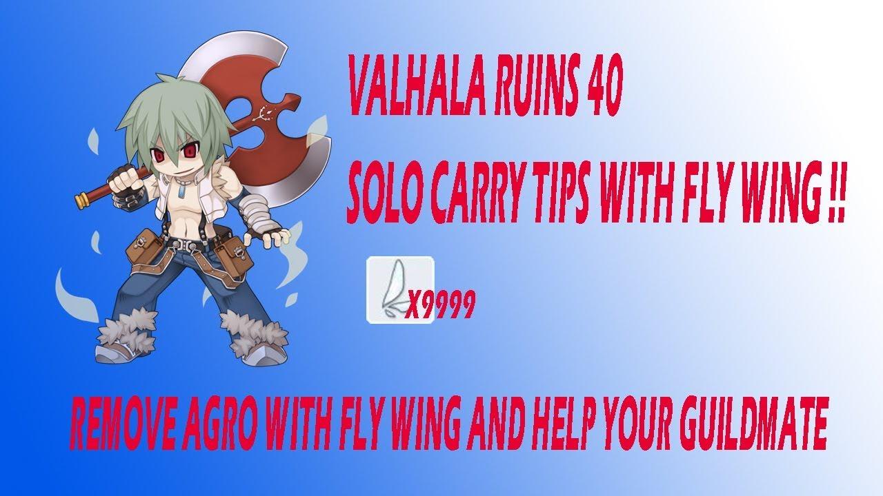 RAGNAROK MOBILE VALHALA RUINS 40 FLY WING TRICK !!