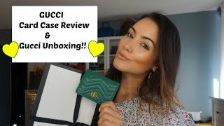 GUCCI CARD CASE REVIEW & GUCCI UNBOXING!!!