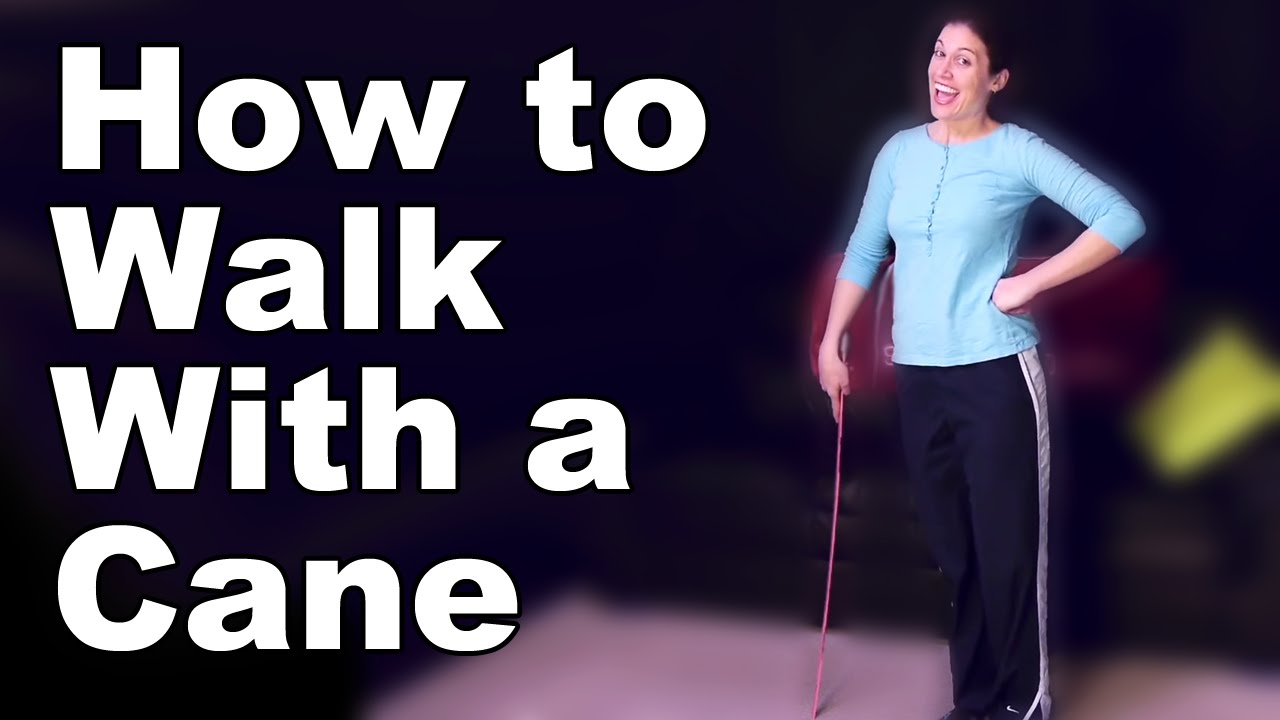 How To Walk With A Cane Correctly Ask Doctor Jo Youtube