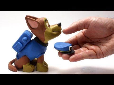 Paw patrol Chase cartoon 💕Superhero Play Doh Stop motion videos for kids
