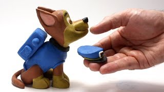 Paw patrol Chase cartoon 💕Superhero Play Doh Stop motion videos for kids