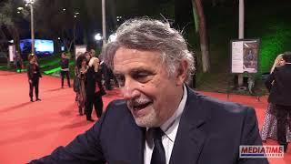 Andrea Roncato sul red carpet di Roma per il film Notti Magiche