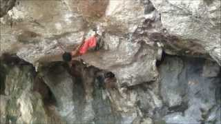 Thai Monkey Man Freestyle Climbs Cliff