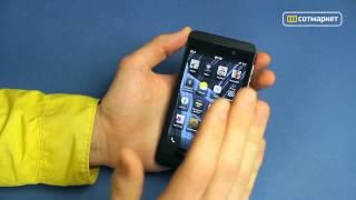 Телефон Blackberry z10, видео обзор blackberry z10 stl100, lte, 4g, black stl.