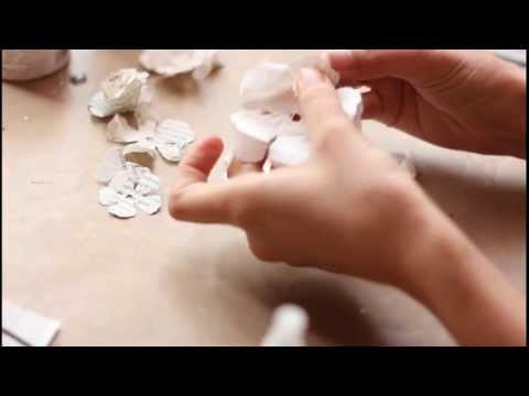 Mulberry Paper Flower tutorial