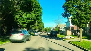 Driving to Lathrup Village, Michigan from Detroit, Michigan