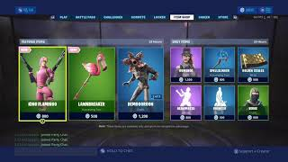 Fortnite # ITEM SHOP 6.7.2019 New skin !!!! KING FLAMINGO