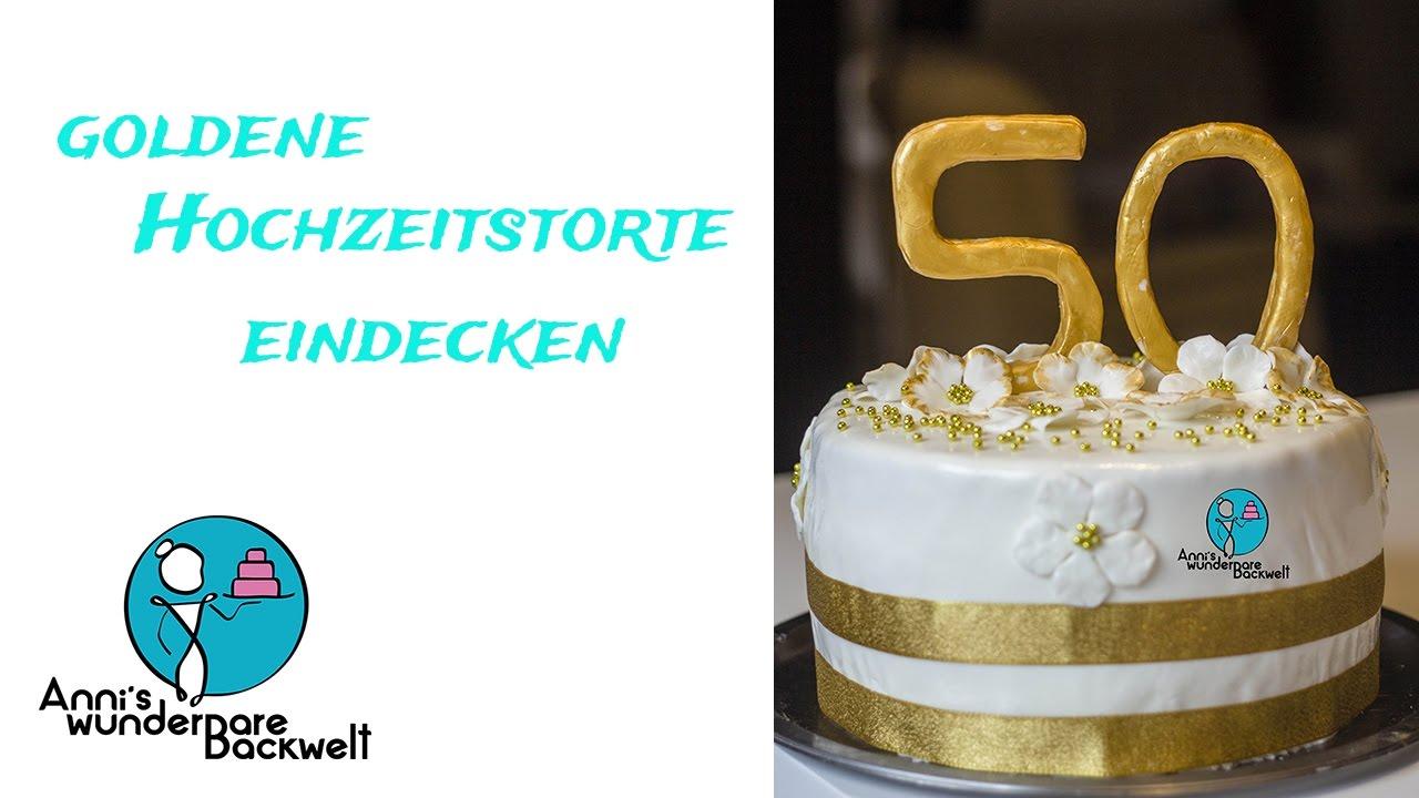50 Hochzeitstag 3d Motivtorte Goldene Hochzeit Fondant Torte