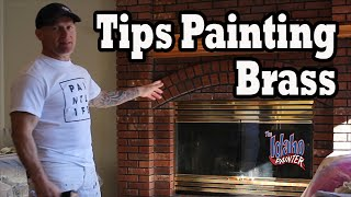 Brass Painting Hacks.  Instructions Painting A Brass Fireplace Black.