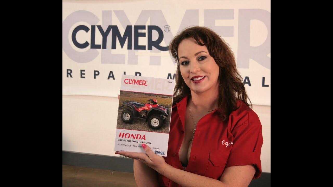 Clymer Manuals Honda Trx500 Foreman Maintenance Troubleshooting 00 Wiring Diagram Repair Shop Manual Video