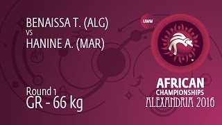 Round 1 GR - 66 kg: T. BENAISSA (ALG) df. A. HANINE (MAR) by TF, 0-0