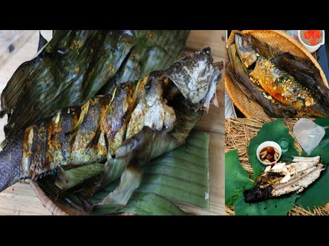 Village food factory  - grilled Fish in my village  - Asian food