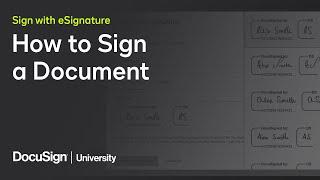 DocuSign eSignature: How t๐ Sign a Document