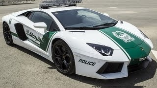 2013 Lamborghini Aventador LP700-4 Dubai Police Car 4WD 6.5 V12 700 cv 350 kmh 0-100 kmh 2,9 s